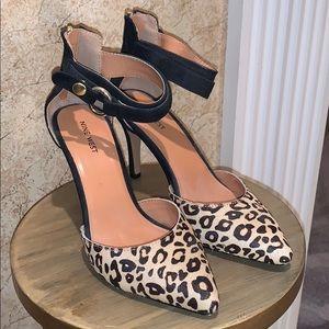 Nine West Cheetah Heels Real Leather & Fur
